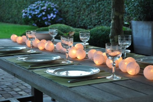 iluminar mesa noche